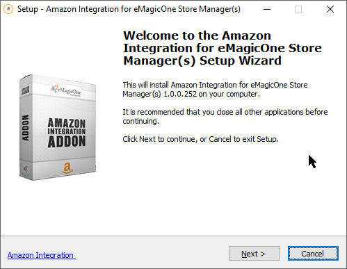 Start of PrestaShop Amazon Integration Installation
