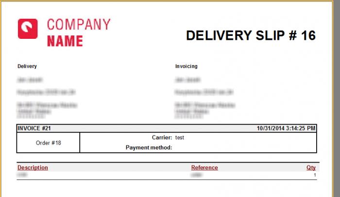 prestashop delivery slip