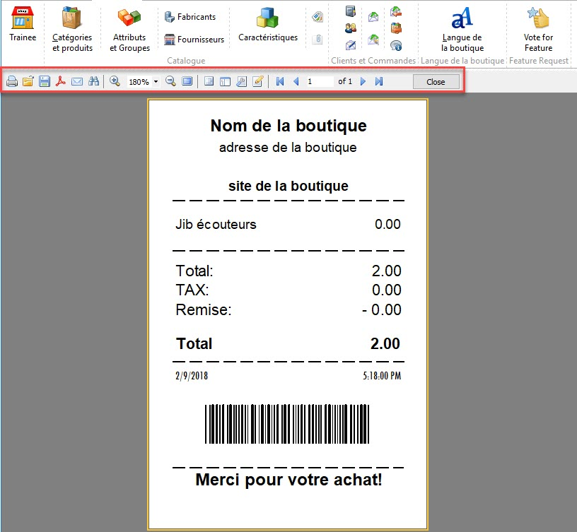 prestashop point de vente options