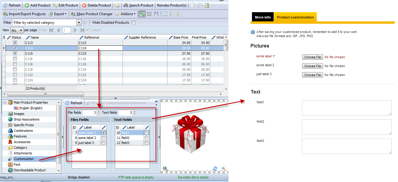 Store Manager for Prestashop custom field generator
