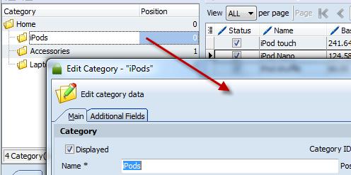 Store Manager for Prestashop Category Edit - no data hide