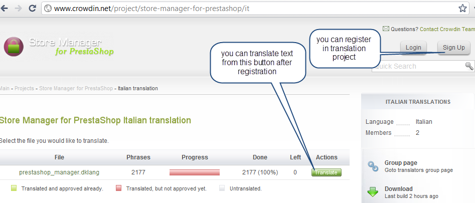 PrestaShop translation project