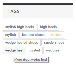 PrestaShop Products Tags Frontend