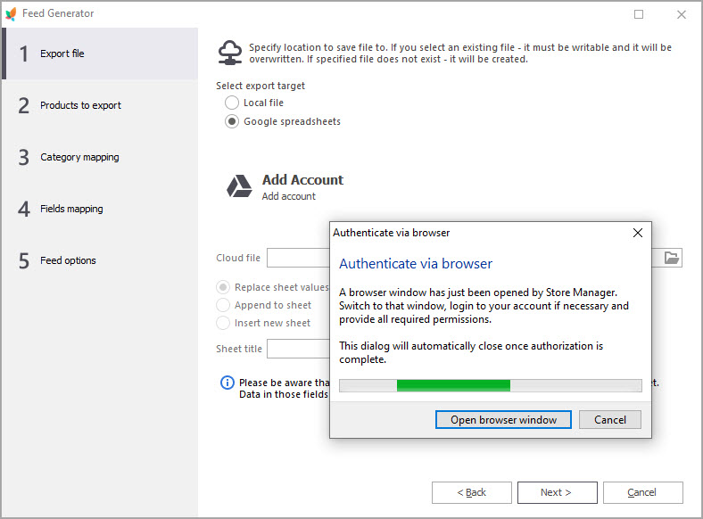 Authenticate New Account via Browser Notification