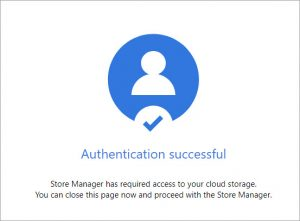 Authentication Successful Confirmation Message