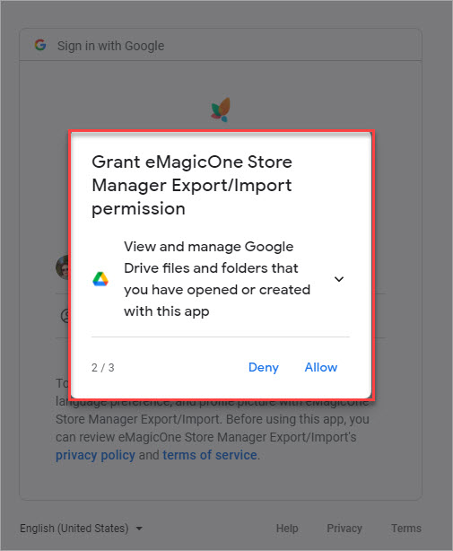 Grant eMagicOne Store Manager Export Import Permission 2 to Manage Files
