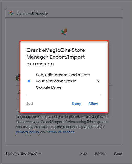 Grant eMagicOne Store Manager Export Import Permission 3 to Manage Files