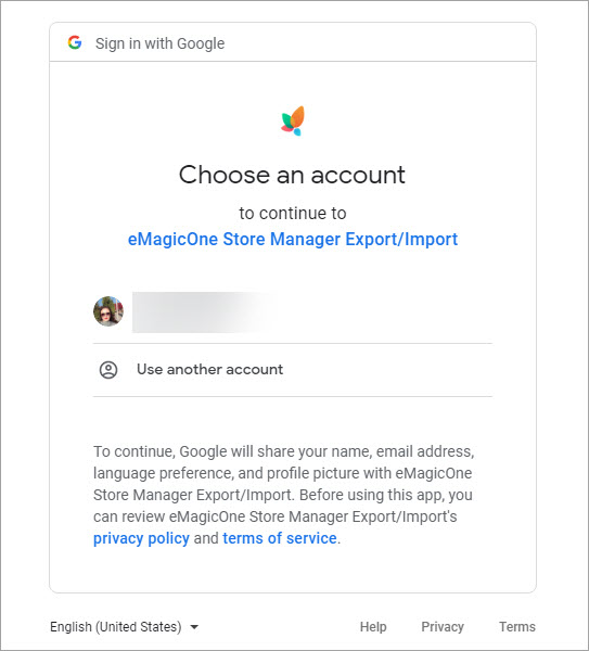 Sign in with Google at Browser